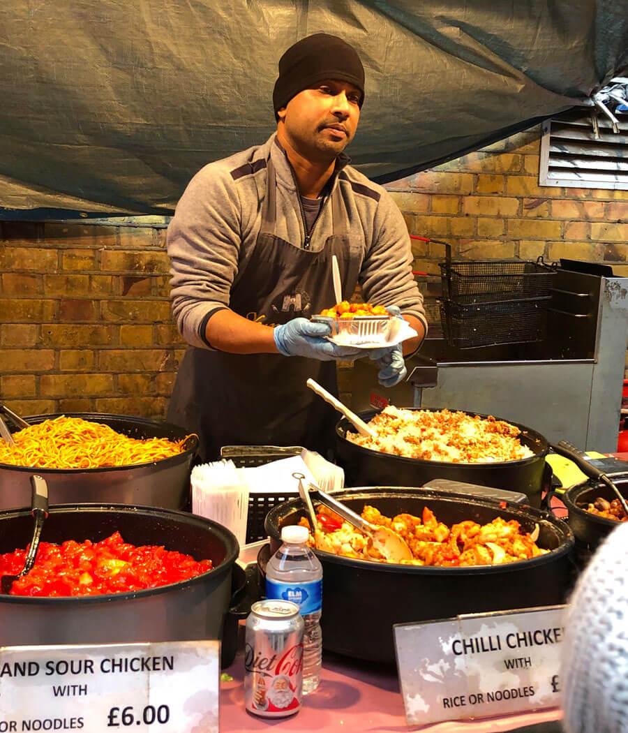 REWE Retail Tour London Staßenküche